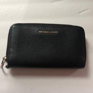 MK black wallet